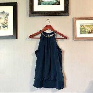 🌺2/$25🌺 pretty deep blue halter style shirt